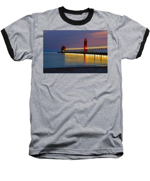 Grand Haven South Pier Lighthouse Baseball T-Shirt