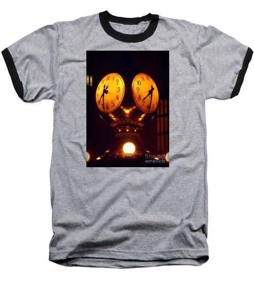 Grand Old Clock - Grand Central Station New York Baseball T-Shirt