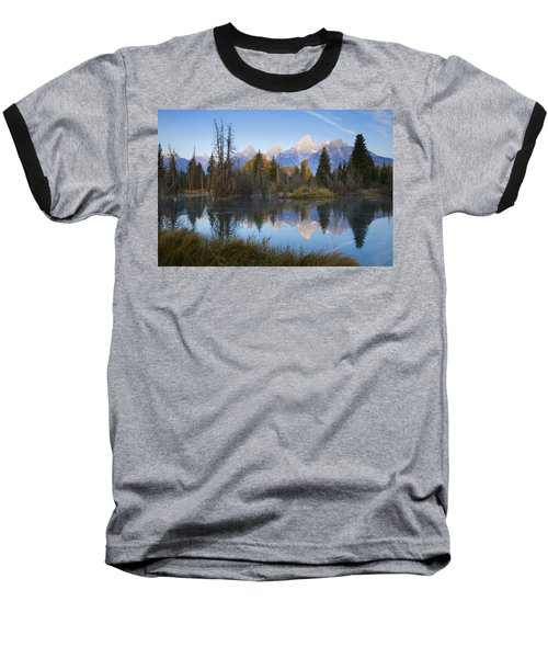 Grand Teton Morning Reflection Baseball T-Shirt