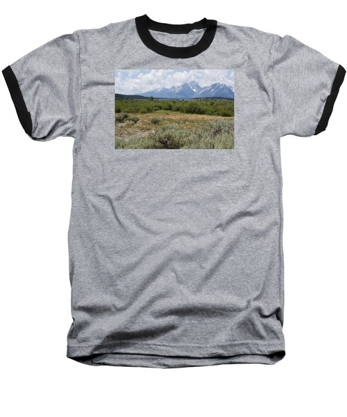 Baseball T-Shirt featuring the photograph Grand Tetons From Willow Flats by Belinda Greb