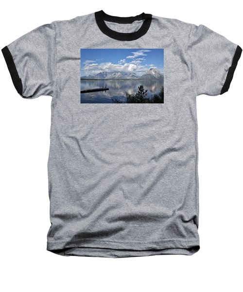 Baseball T-Shirt featuring the photograph Grand Tetons In The Morning Light by Belinda Greb