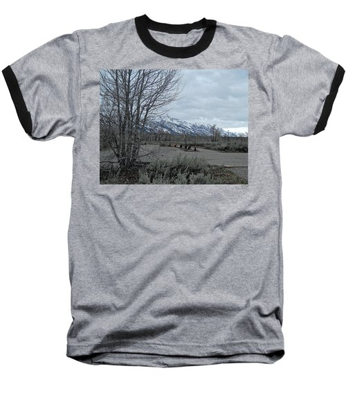 Grand Tetons Landscape Baseball T-Shirt