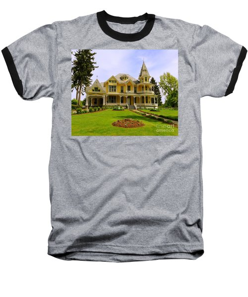 Baseball T-Shirt featuring the photograph Grand Yellow Victorian by Becky Lupe