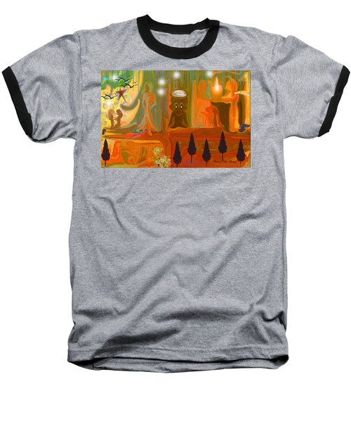 Baseball T-Shirt featuring the painting Grandpas House For His Little Peeps by Sherri  Of Palm Springs