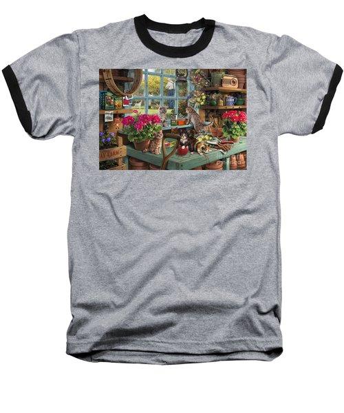 Grandpa's Potting Shed Baseball T-Shirt