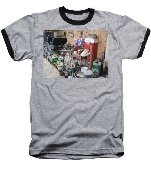Baseball T-Shirt featuring the photograph Grandpop's Garage by Judith Morris
