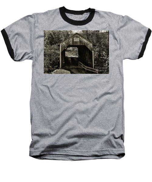 Grange City Covered Bridge - Sepia Baseball T-Shirt