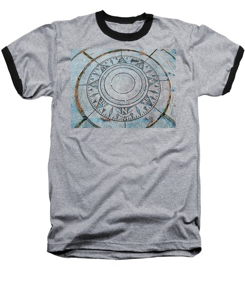 Baseball T-Shirt featuring the photograph Granite Compass by Barbara McDevitt
