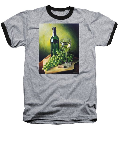 Grapes And Wine Baseball T-Shirt by Kim Lockman