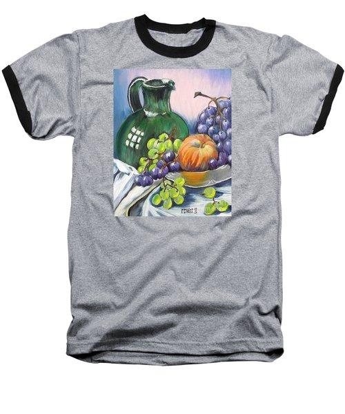 Grapes Galore Baseball T-Shirt by Marilyn  McNish