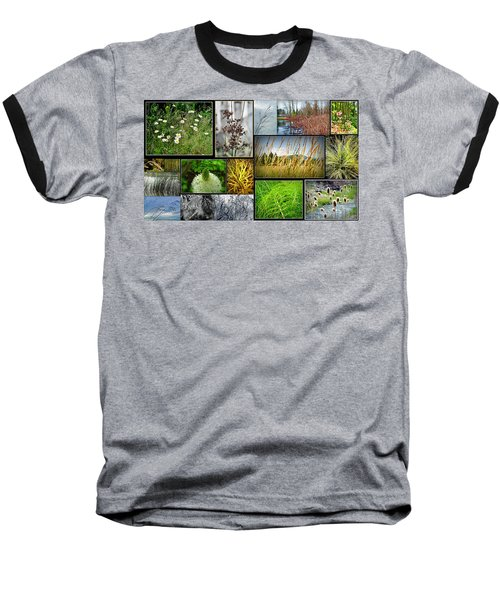 Grass Collage Variety Baseball T-Shirt by Tikvah's Hope