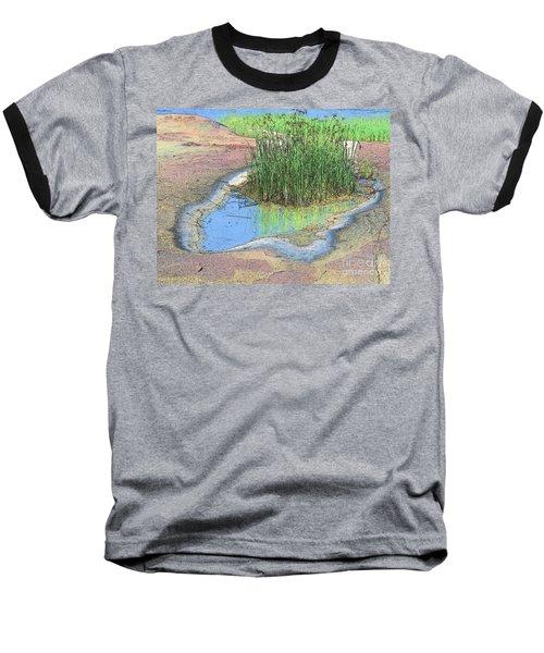 Baseball T-Shirt featuring the photograph Grass Growing On Rocks by Teresa Zieba