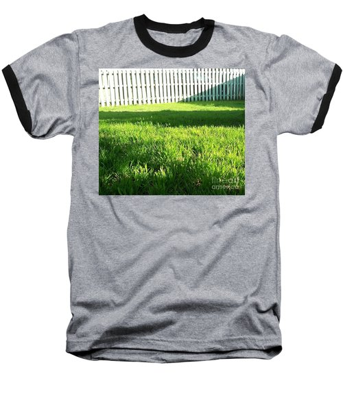 Grass Shadows Baseball T-Shirt by Susan Williams