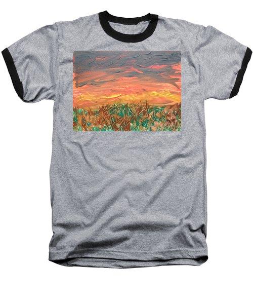 Grassland Sunset Baseball T-Shirt