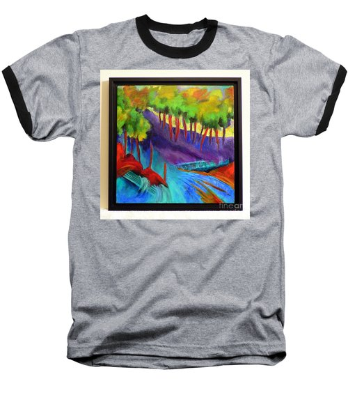 Baseball T-Shirt featuring the painting Grate Mountain by Elizabeth Fontaine-Barr