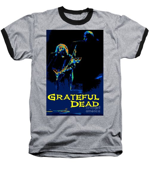 Baseball T-Shirt featuring the photograph Grateful Dead - In Concert by Susan Carella