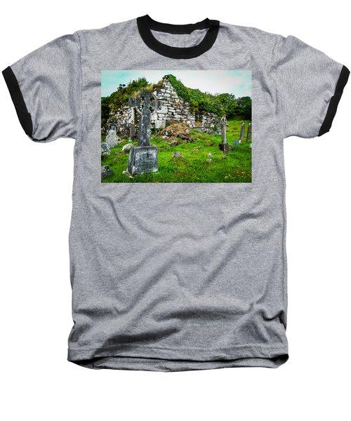 Graveyard And Church Ruins On Ireland's Mizen Peninsula Baseball T-Shirt