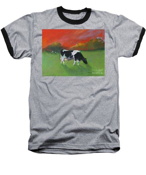 Grazing Cow Baseball T-Shirt