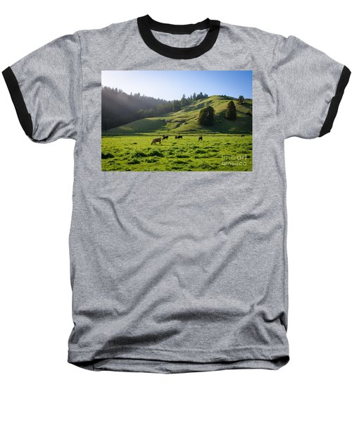 Baseball T-Shirt featuring the photograph Grazing Hillside by CML Brown