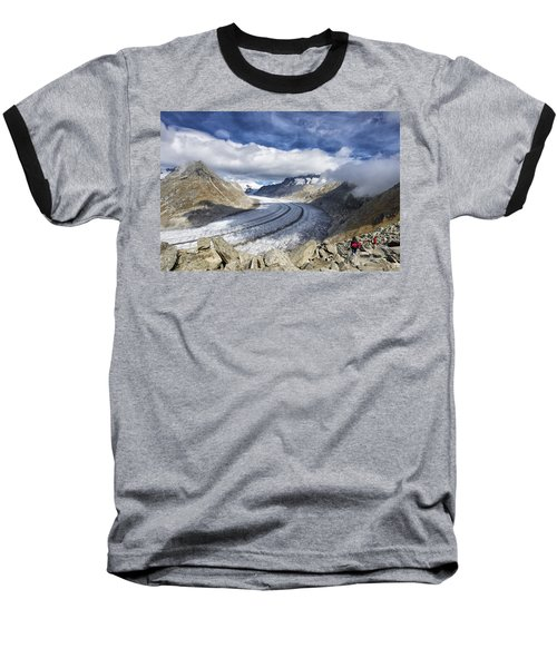 Great Aletsch Glacier Swiss Alps Switzerland Europe Baseball T-Shirt