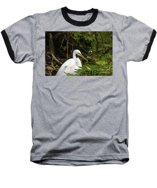 Great Blue Heron - White Baseball T-Shirt