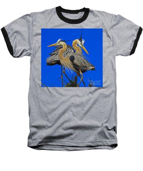 Great Blue Heron Family Baseball T-Shirt