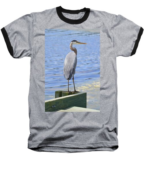 Baseball T-Shirt featuring the photograph Great Blue Heron by Judith Morris