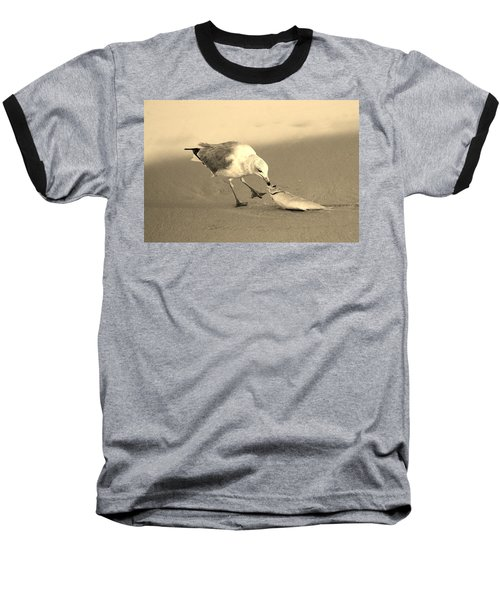 Baseball T-Shirt featuring the photograph Great Catch With Fish by Cynthia Guinn