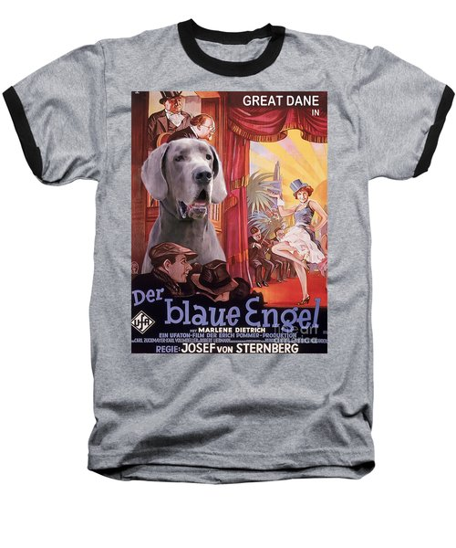 Great Dane Art Canvas Print - Der Blaue Engel Movie Poster Baseball T-Shirt