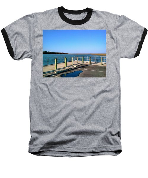Great Day For Fishing In The Marsh Baseball T-Shirt by Amazing Photographs AKA Christian Wilson