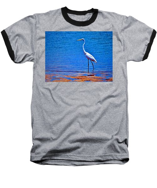 Baseball T-Shirt featuring the photograph Great Egret by Ludwig Keck