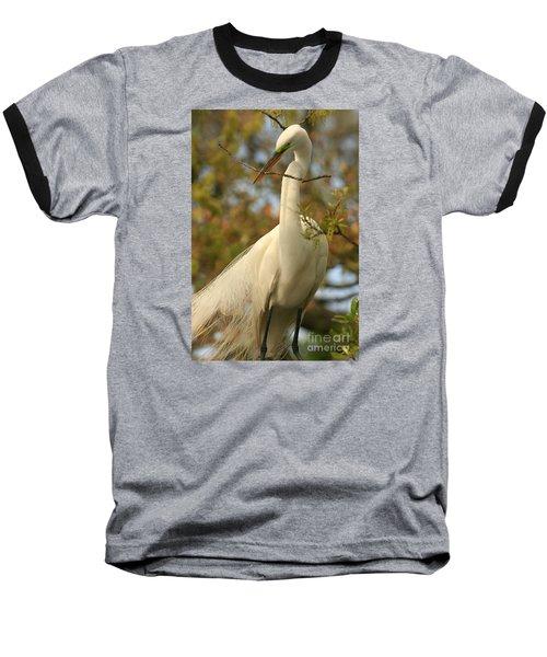 Great Egret Impressions Baseball T-Shirt