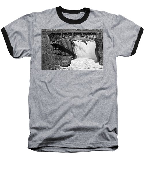 Great Falls In Paterson Nj Baseball T-Shirt by Anthony Sacco