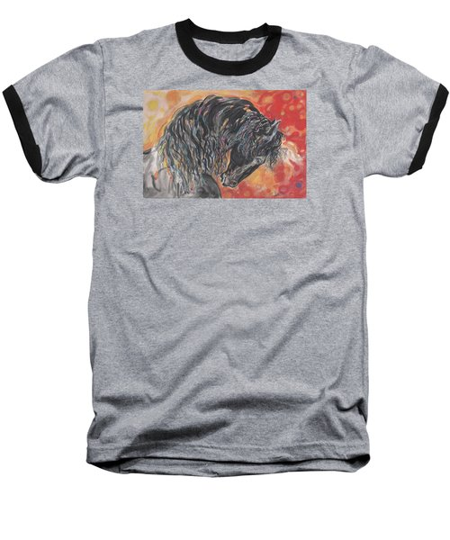 Great Fresian Baseball T-Shirt by Mary Armstrong