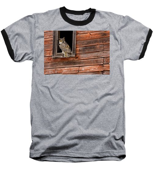 Great Horned Baseball T-Shirt