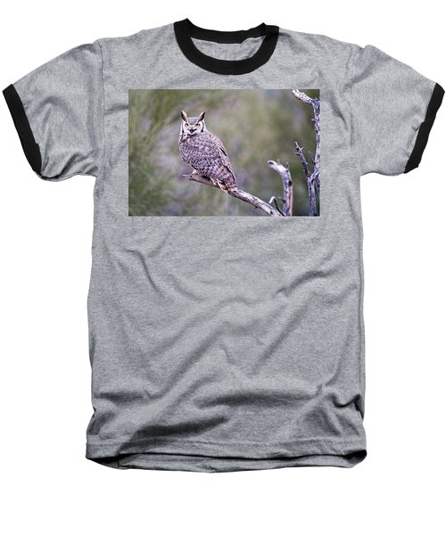 Baseball T-Shirt featuring the photograph Great Horned Owl by Dan McManus