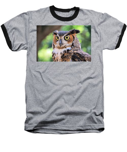 Baseball T-Shirt featuring the photograph Great Horned Owl by Rosalie Scanlon
