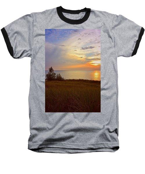 Great Lake Great Sunset Baseball T-Shirt