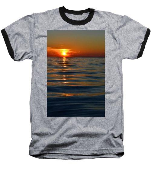Great Lake Sunset Baseball T-Shirt