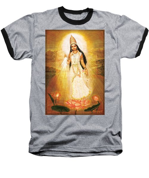 Great Mother Goddess Baseball T-Shirt by Ananda Vdovic