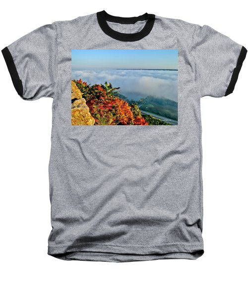 Great River Road Fog Baseball T-Shirt
