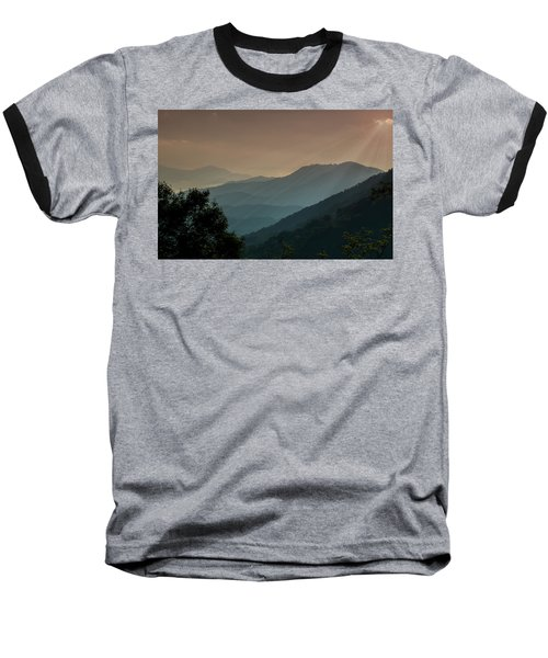 Baseball T-Shirt featuring the photograph Great Smoky Mountains Blue Ridge Parkway by Patti Deters