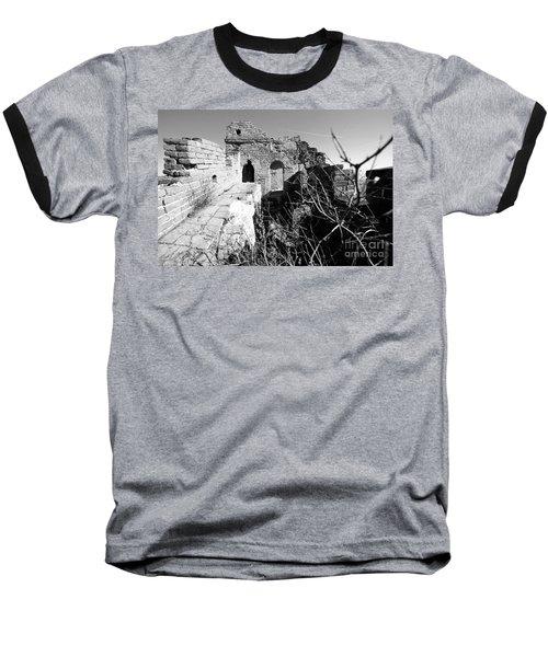 Great Wall Ruins Baseball T-Shirt