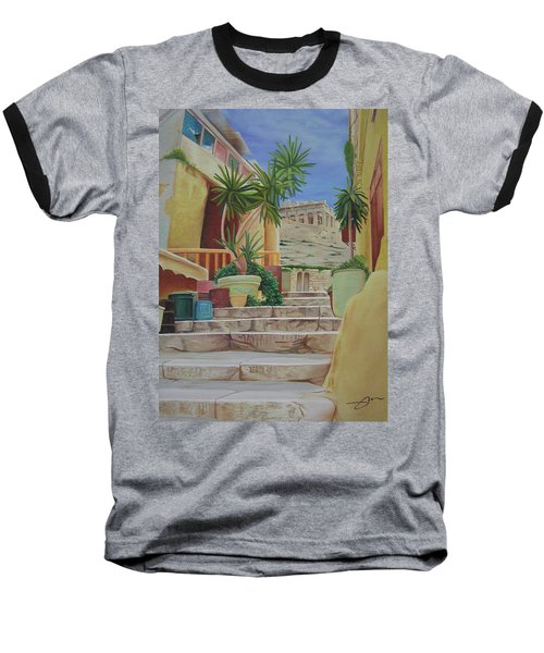 Baseball T-Shirt featuring the painting Greece by Joshua Morton