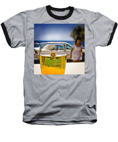 Baseball T-Shirt featuring the photograph Greek Beer Goggles by Meirion Matthias