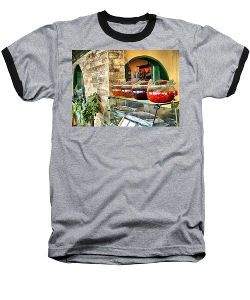 Greek Isle Restaurant Still Life Baseball T-Shirt