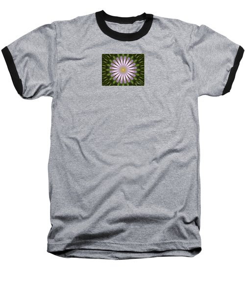 Green And Purple Starburst Baseball T-Shirt