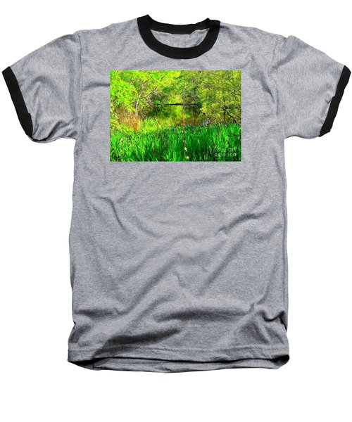 Baseball T-Shirt featuring the photograph Green As Emerald's by Michael Hoard