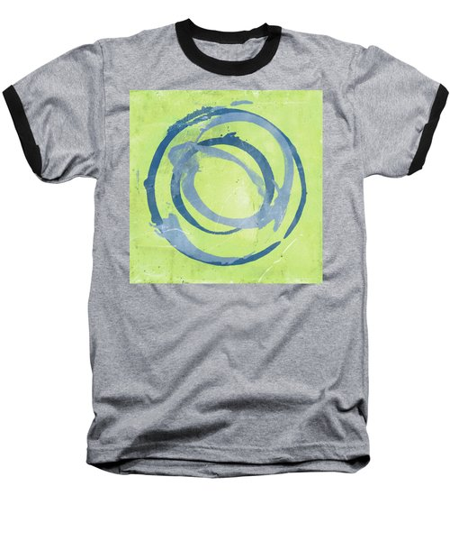 Green Blue Baseball T-Shirt by Julie Niemela