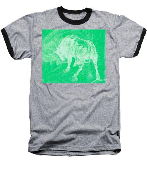 Green Bull Negative Baseball T-Shirt